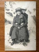 (carte-photo, Sports D'hiver) Lugeuses à Annaberg (1). Photo Signée, 1908, SUP. - Illustrateurs & Photographes