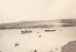 Cornouailles Helford Cornwall Village Bateaux Riviere Ancienne Photo Amateur 1900 - Places
