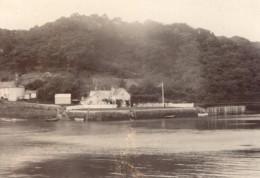 Cornouailles Riviere Fal King Harry's Passage Ferry Cornwall Ancienne Photo Amateur 1900 - Places