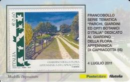 2011 PARCHI, GIARDINI ED ORTI BOTANICI D'ITALIA - GIARDINO DELLA FLORA APPENNINICA DI CAPRACOTTA - 6. 1946-.. Repubblica