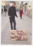 Carte De Visite Format CP - Photo Rennes Bretagne 35 Rue Saint Melaine 2017 - SDF Prostitution Manche - Cartes De Visite