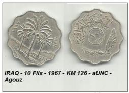IRAQ - 10 Fils - 1967 - KM 126 - AUNC - Agouz - Iraq