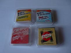 COLLECTOR 4 Mini-jeux  - PUB BABYBEL  Fromage - Zèbre Coq Vache  Cochon Ours Girafle Grenuille Lion - Format 4 X 4 Cm - 32 Cards
