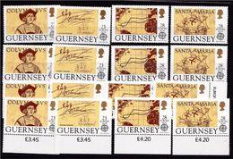 1992 Guernsey EUROPA CEPT EUROPE 4 Serie Di 4v. MNH** - Europa-CEPT