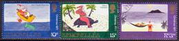 SEYCHELLES 1971 SG #300-02 Compl.set Used Christmas - Seychelles (...-1976)