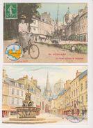 26342- 2CPM Guingamp Semaine Cyclotourisme Aout 1986 -envoie Bonjour Tampon Gouache Olivo (Cadrea) -velo - Guingamp