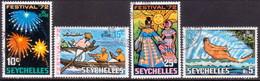 SEYCHELLES 1972 SG #315-18 Compl.set Used Festival '72 - Seychelles (...-1976)