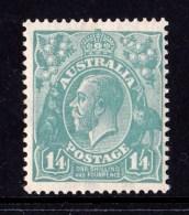 Australia 1932 King George V 1/4d Greenish Blue C Of A Watermark MH - 1913-36 George V: Heads