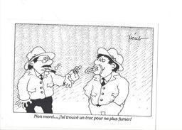18236- Pécub Non Merci... J'ai Trouvé Un Truc Pour Ne Plus Fumer D'après Un Dessin De Pécub Tiré Sur Copieur KODAK - Other Illustrators