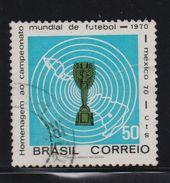 Brazil 1970, Sports, Soccer, Minr 1260, Vfu. Cv 2 Euro - Oblitérés