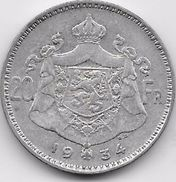 Belgique - 20 Francs 1934 - Argent - 1909-1934: Albert I