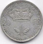 Belgique - 20 Francs 1935 - Argent - 1934-1945: Leopold III