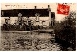 CPA 77 - HERME (Seine Et Marne) - Toury Dans L'eau. Souvenir De L'inondation De Janvierr 1910 - Ed. Simonet - Andere Gemeenten