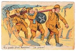 Tu Parles D'un Hérisson 1940 - Barbelé & Soldats - Humoristiques