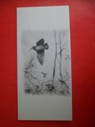 Carte Double Volet Illustrateur Dominique PIZON Chasse  Oiseau Bécasse En Vol - Autres Illustrateurs