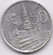 Belgique - 50 Francs 1958 - Argent - 1951-1993: Baldovino I