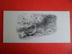 Carte Double Volet Illustrateur Dominique PIZON Chasse  Oiseau Bécasse Au Sol - Autres Illustrateurs