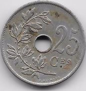 Belgique - 25 Centimes 1908 - 1909-1934: Albert I