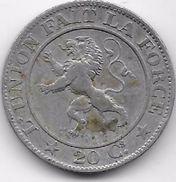 Belgique - 20 Centimes 1861 - 1831-1865: Léopoldo I