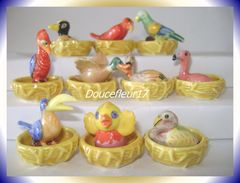 Oiseau Fait Son Nid  ... Série Complète De 20 Fèves ... Ref AFF : 6-2001..  ( Pan 0038) - Animals