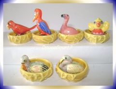 Oiseau Fait Son Nid  ... Lot De 12 Fèves ... Ref AFF : 6-2001..  ( Pan 0038) - Animals