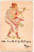 Illustrateur :Art Nouveau Femme Avec Flutes - Illustratori & Fotografie
