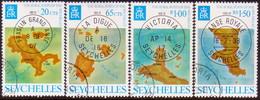 SEYCHELLES 1976 SG #350-53 Compl.set Used Rural Posts - Seychelles (...-1976)