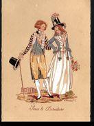 Illustrateur E. Renaudin, Sous Le Directoire, N°4190 (papier Noir Adhérant Au Verso) - Illustrators & Photographers