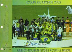 COUPR DU MOND 2002  LA CINQUIEME ETOILE  POUR  LE GRESIL FEUILLET  CEF   SPECIAL  C N° YVERT ET TELLIER    TIMBRE  2002 - Wereldkampioenschap