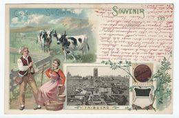 Souvenir FRIBOURG (Suisse) - Publicité Cacao Suchard - FR Fribourg