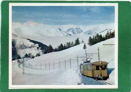 65 LUCHON SUPERBAGNERES - Chemin De Fer à Crémaillère Sous La Neige Carte VOEUX 2 Volets (CI  Breton La Vie Du Rail) - France