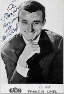 Autographe Signature à L'encre Francis LINEL - Autographes
