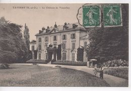 CPA.95.Taverny.1912.Le Château De Vaucelles.animé Couple - Taverny