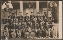 Camborne Royal Trophy Band, Camborne, Cornwall, 1913 - RP Postcard - England