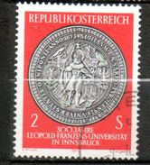 AUTRICHE Ancien Sceau De L Université Léopold Franz 1970 N°1155 - 1945-.... 2de Republiek