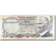Turquie, 5 Lira, 1971-1982, 1976, KM:185, TB+ - Turquie