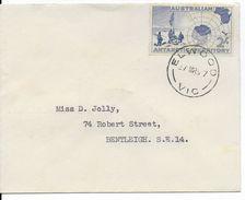 ANTARCTIQUE AUSTRALIEN - 1957 - ENVELOPPE De ELWOOD => BENTLEIGH - Territoire Antarctique Australien (AAT)