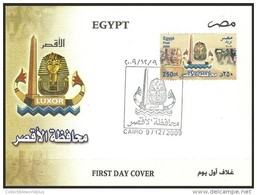 EGYPT 2009 FDC / FIRST DAY COVER Luxor Governorate - Egypt