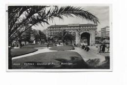 NAPOLI - GIARDINI DI PIAZZA MUNICIPIO VIAGGIATA FP - Napoli