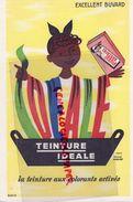 BUVARD TEINTURE IDEALE- ILLUSTRATEUR HERVE MORVAN- - Kleidung & Textil