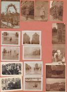 17 Photos Sur Page De L'officier CARON De Gand Pendant Son Affectation à La Caserne Albert - Guerre, Militaire