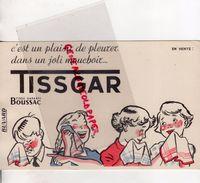 BUVARD TISSGAR -TISSU BOUSSAC- PLEURER JOLI MOUCHOIR ENFANT - Textile & Clothing
