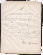 PARIS Marie-Nicolette De CHOISEUL Duchesse De PERIGORD 77 Ans 1866 Familles D'ARENBERG De MERODE WESTERLOO - Décès
