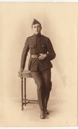 Photo CP Souvenir Militaire From L'officier Caron De Gand  Maurice De Vos Caserne Albert - Guerre, Militaire