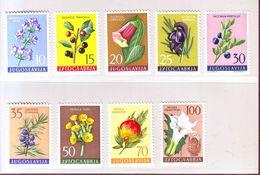 YOUGOSLAVIE 1959 -  Flore Médicinale - YT N° 783/791 - Neuf ** - Neufs