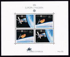 1991 Madeira Portogallo Portugal EUROPA CEPT EUROPE Foglietto MNH** Souv. Sheet - 1991
