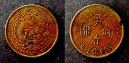 CHINA - RARE 10 CASH  COPPER - CENTRAL GOVERNMENT - DYNASTIE QING  CHINE - China