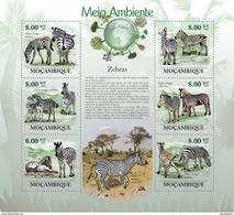 MOZAMBIQUE 2010 SHEET CEBRAS ZEBRAS WILDLIFE Moz10119a - Mozambique