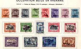 1919  Belgique Surchargée Allemagne-Duitschand, OC 38 / 54 Ob, Cote 235 €, - [OC38/54] Belg. Besatzung In D.