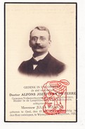 DP Foto Dokter Volksvertegenw. Alfons J. Van De Perre ° Geel 1872 † Wijnegem 1925 X Julia Bollens / Antwerpen / Snor - Images Religieuses
